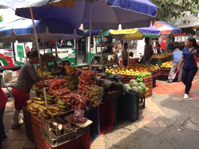 Fresh fruits and vegetables are available year round because of the spring-like climate in Medellin