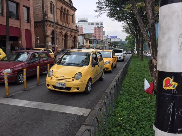 One of Medellín's affordable taxis