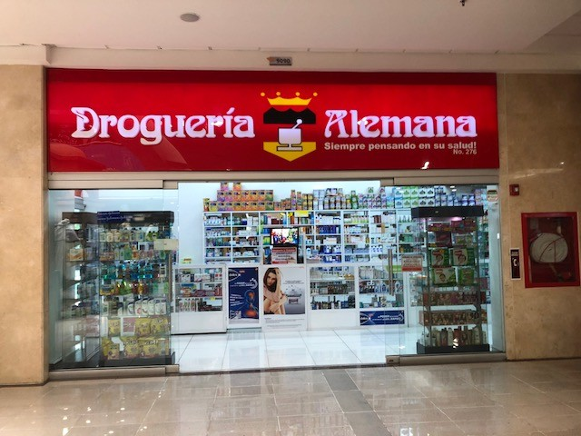 One of Medellín's inexpensive drugstores where almost anything may be purchased over the counter