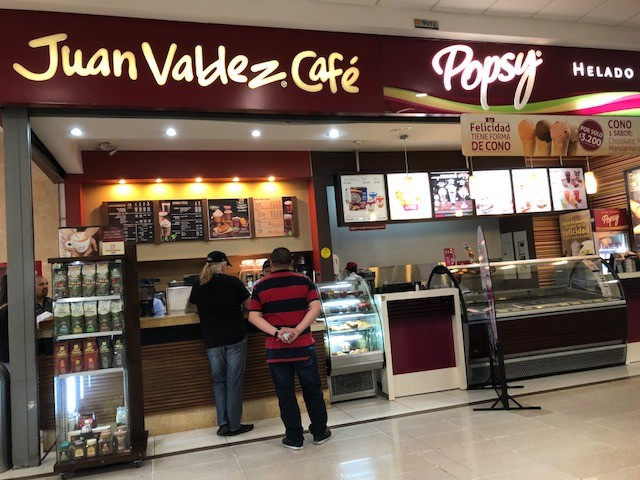 The Juan Valdez coffee shop chain is the local equivalent of Starbucks but much better