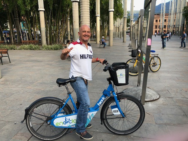 Rent-free bicycles are one way to get around Medellín
