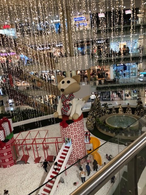 Christmas at one of Medellin's huge shopping malls