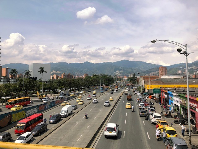 One of Medellín's busy thoroughfares make it easy to get around the city