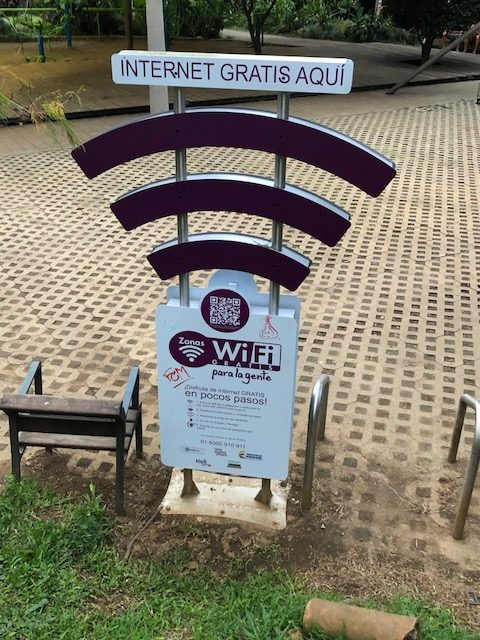 Free WIFI is available all over the city of Medellín