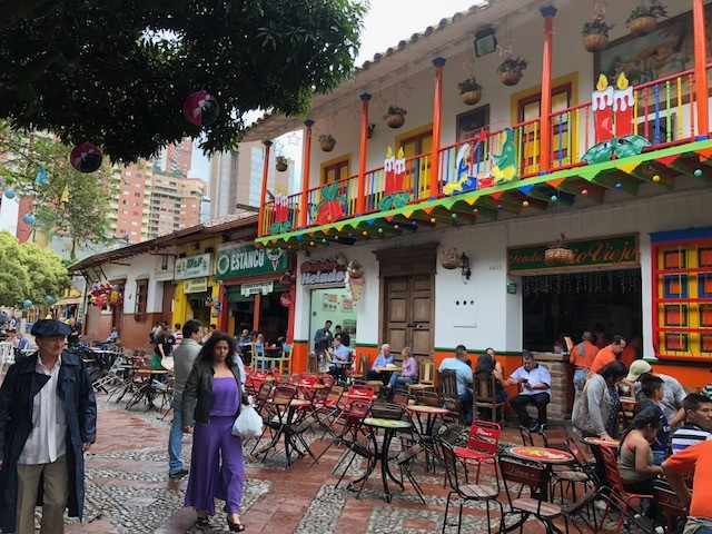 A colorful restaurant in Medellin's Sabaneta neighborhood